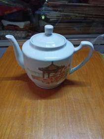 老亭台茶壶(安徽祁门瓷厂)