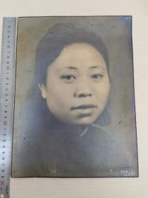 民国超大尺寸著名上海王开照相馆肖像照民国老照片