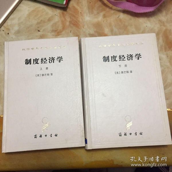 制度经济学(上下两本合售) 汉译世界学术名著丛书 精装 无笔迹