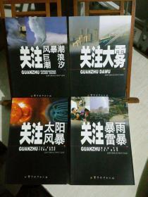 关注军事 气象水文空间天气系列丛书:关注暴雨·雷暴、关注风暴潮·巨浪·潮汐、关注太阳风暴、关注大雾,四册合售