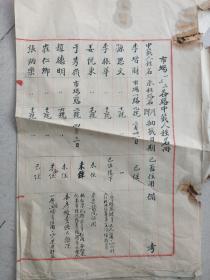 民国青岛福东和记,手写市场一,二,三,各路中籖人姓名册。