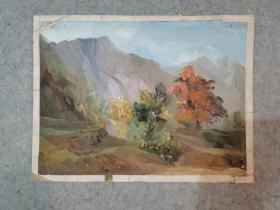 七八十年代无签名老油画 风景 著名老画家 西安美院高材生作品