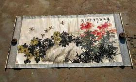 王炳龙(1940-1999),济南人。1966年毕业于中央美术学院中国画系。后又师从李苦禅为入室弟子,得其心传口授,又受王雪涛、郭味蕖、田世光等教诲,其学兄范曾先生对其艺事也有很大影响。从传统大写意及西洋绘画中吸取营养,逐步形成个人风格。擅写意画鸟。收藏佳作,到手可自己重新装裱、更能展现作品之美。【永久保真迹】收藏佳作。画心尺寸136 cm /70cm