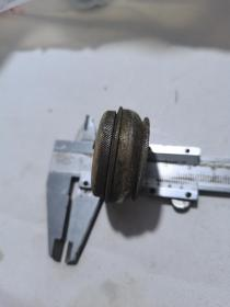 民国文房铜墨盒带盖3.8厘米的(5),收藏品