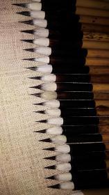 老毛笔 金鼎牌 双喜牌   选毫圆健   七紫三羊……一组共52支  未使用与稍使用