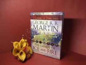 冰与火之歌地图集美版折叠盒装12张收藏版全彩地图 The Lands of Ice and Fire (A Game of Thrones)