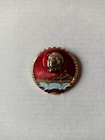 拥军爱民(桂林1)毛主席章(直径3.3厘米)