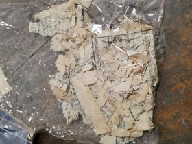 清代刻本碎纸片一堆