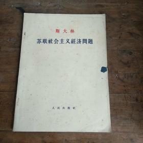 苏联社会主义经济问题 (大字本)