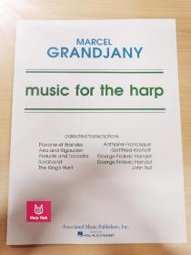 竖琴谱 Music for the harp 踏板竖琴 Marcel Grandjany