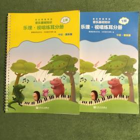 音乐等级考试 音乐基础知识 乐理·视唱练耳分册 (中级·音乐版)上下册