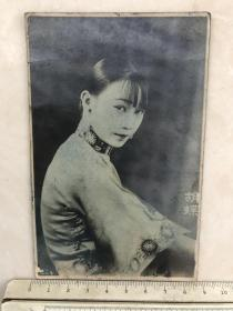 民国时期美女明星女影星胡蝶明信片格式原版老照片