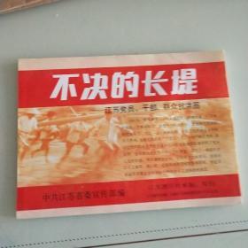 不决的长堤-江苏党员干群众抗洪图