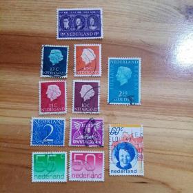 外国邮票 法国信销邮票11枚(乙13-6)