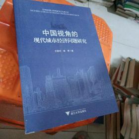 中国视角的现代城市经济问题研究