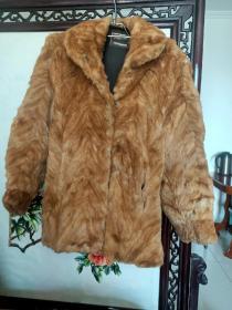 80年代黄狼皮毛女士上衣