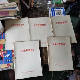 毛泽东思想万岁 (2、3、4、5、6)五册合售
