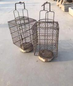 :清代 大户人家用 铁制  灯笼一对 完整 正常使用