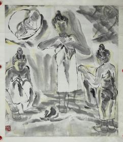 纪京宁 尺寸 94/81 立轴 女 1957年纪京宁生于南京,1985年毕业于河北师范大学美术学院,并留校任教。1990年在中央美术学院国画系进修,2004年调入中央民族大学美术学院任教授。作为中国美术家协会会员,她的作品曾多次参加全国美展并获奖,曾赴海外举办交流展。主要作品有连环画《老井》、国画《紫气》、《秋天》等。还出版有《纪京宁画集》。她的作品被多个重要艺术机构收藏。