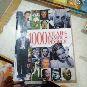 1000 Years of Famous People【千年世界名人,英文原版,精美彩色图文本】