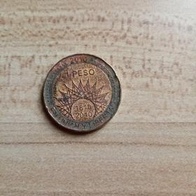 外国钱币  阿根廷2010年硬币(面值1)(YB6)