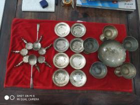 舌尖上的中国南京行,民国中央飡廰(中央饭店)总统套间镀银餐具23件,包老包真