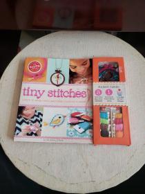 小小针线活 英文原版 Tiny Stitches 手工制作 活动书 DIY小饰品-