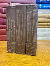 The Decline and Fall of Roman Empire  3卷全,heritage press 出版  每卷均有书匣 16开本 纸张白净 书顶刷黑