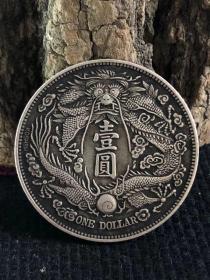 大清银币长须龙银元