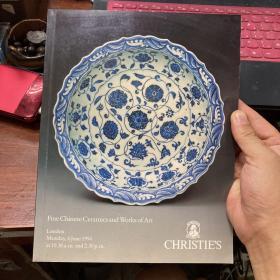 佳士得 伦敦  1994年6月 中国瓷器及艺术品图录