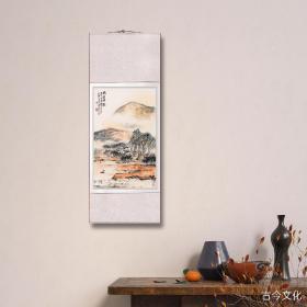 朱屺瞻-雨姿晴态。纸本大小63*100厘米。宣纸艺术微喷复制。