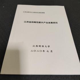 江西省第四次全国经济普查课题 江西省战略新兴产业发展研究