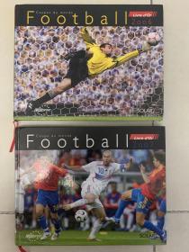 【法国足球原版】世界杯足球,2册一共280p左右.