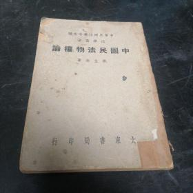 中国民法物权论