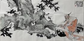 """【保真字画,得自画家本人】张辉,137X68cm!                 中国工笔画学会会员、北京市西城区书协理事、陕西省美协理事、西安中国画院画家。98陕西省""""百杰""""青年画家。作品多次入选中国美协展览。"""