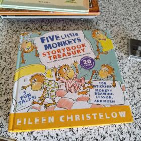 Five Little Monkeys Storybook Treasury  五只小猴子 英文原版
