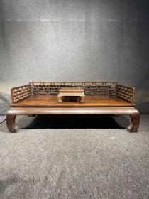 明清家具海南黄花梨曲尺罗汉床古董传世木器
