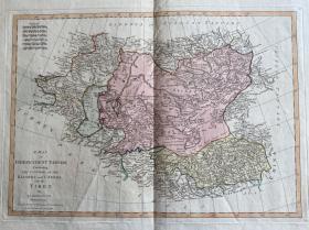 【1786年出版古董地图】A Map of Independent Tartary Containing the Countries of The Kalmuks and Uzbeks with Tibet
