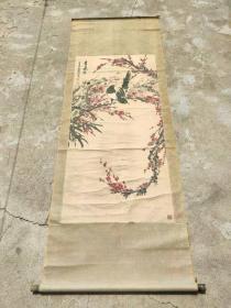 李焜祥:字光耀,1931年生,山东书画学会会员。喜鹊登梅花鸟画,永久保真迹,收藏佳作。画心135cm/65cm.