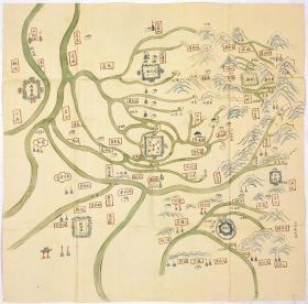古地图1906 彰徳营舆图。安阳。纸本大小69.42*70.41厘米。宣纸艺术微喷复制。150元包邮