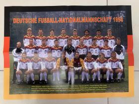 足球海报 1994世界杯德国队