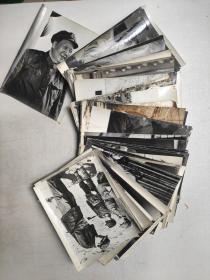 黑白老照片:毛主席照片50张合售  20x14.5cm