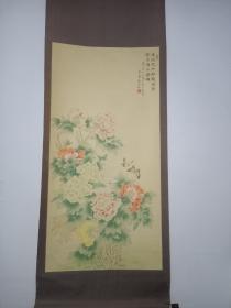 福建省美协主席,中国美协会员,檀东铿花卉中堂。129/64