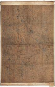 古地图1908 五台山圣境全图 日本绘。纸本大小74*116厘米。宣纸艺术微喷复制