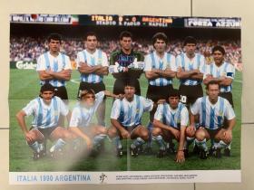 足球海报 1990世界杯阿根廷队/马拉多纳..