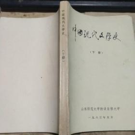中国现代文学史 下册