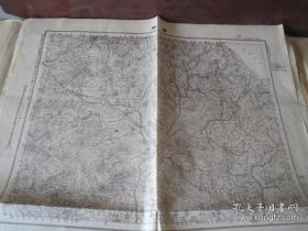 民国地图 山东省  杨柳  民国元年测绘  民国三十六年印刷,58*42厘米
