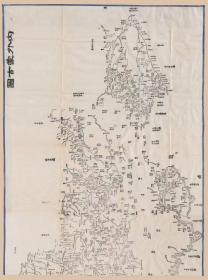 0436古地图1864 内外蒙古图 法国藏本。纸本大小85.22*63.41厘米。宣纸艺术微喷复制