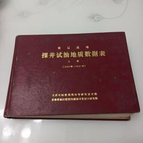 松辽盆地探井试油地质数据表(上册),(1959一1981)
