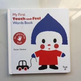 Twirl My First Touch and Feel Words Book早教启蒙纸板触摸书!  精装